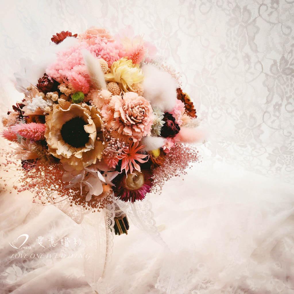捧花乾燥花束